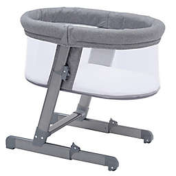 Simmons Kids® City Sleeper Oval Bassinet in Grey with Quilted Mattress