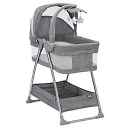 Simmons Kids City Sleeper Trendy Bassinet in Grey with Electronic Mobile by Delta Children