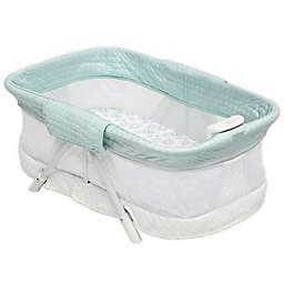 Simmons Kids Ultra-Compact Mini Travel Bassinet in Aqua by Delta Children