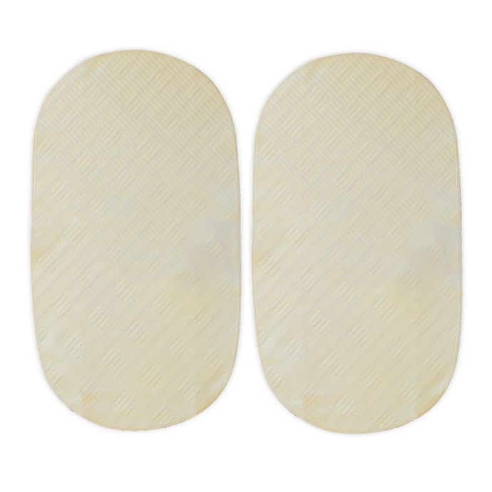 Alternate image 1 for Boppy® Organic Cotton Top Waterproof Liners in Cream (Set of 2)