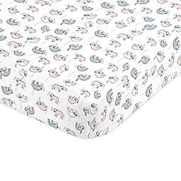 Nojo® Sloth Fitted Crib Sheet