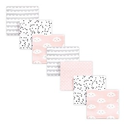 hudson baby 7-Pack Cloud Cotton Receiving Blankets in Pink