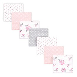 Hudson Baby 7-Pack Flannel Receiving Blankets in Pink