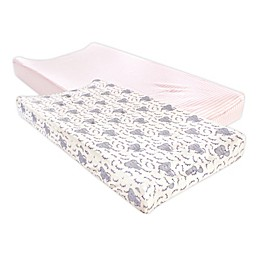 Touched by Nature® 2-Pack Elephant Changing Pad Cover in Pink