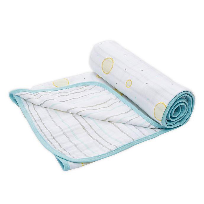 Alternate image 1 for aden + anais™ essentials Sunny Stroller Blanket in Grey