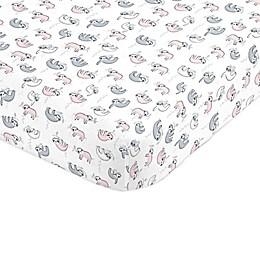 NoJo® Sloth Fitted Mini Crib Sheet