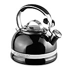 KitchenAid® 2-Quart Porcelain Enamel Tea Kettle with Stainless Steel Handle in Pewter
