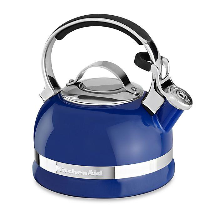 Alternate image 1 for KitchenAid® 2-Quart Porcelain Enamel Tea Kettles with Stainless Steel Handle