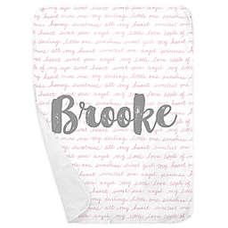 Carousel Designs® Sweet Girl Receiving Blanket in Bubblegum Pink