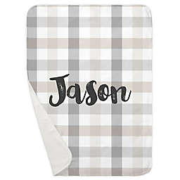 Carousel Designs® Buffalo Check Receiving Blanket in Grey/Taupe