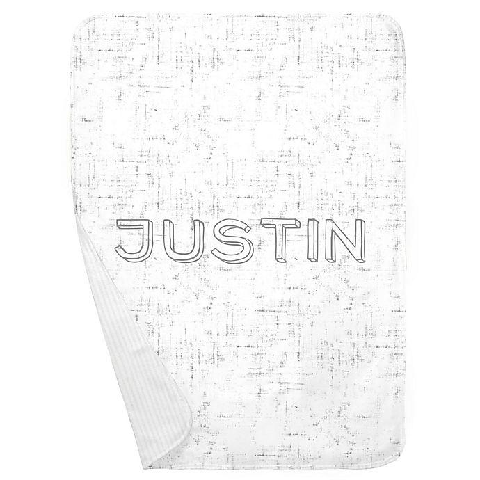 Alternate image 1 for Carousel Designs® Distressed Receiving Blanket in Grey