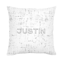 Carousel Designs Distressed Square Throw Pillow in Grey