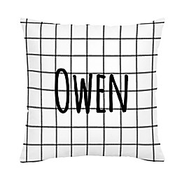 Carousel Designs® Windowpane Square Throw Pillow in Black/White