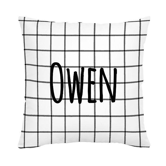 Alternate image 1 for Carousel Designs® Windowpane Square Throw Pillow in Black/White