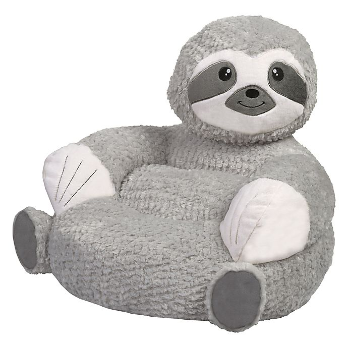 Alternate image 1 for Trend Labs® Plush Sloth Character Chair in Grey/White