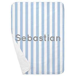 Carousel Designs® Stripe Receiving Blanket in Blue