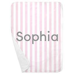 Carousel Designs® Stripe Receiving Blanket in Pink