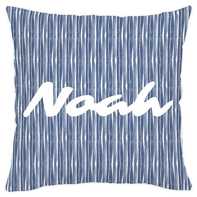Alternate image 1 for Carousel Designs® Ocean Stripe Square Throw Pillow in Blue