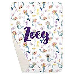 Carousel Designs® Watercolor Mermaids Receiving Blanket