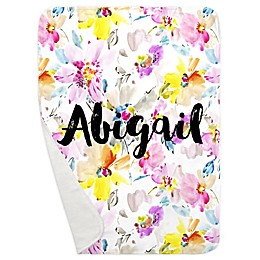 Carousel Designs® Watercolor Floral Receiving Blanket
