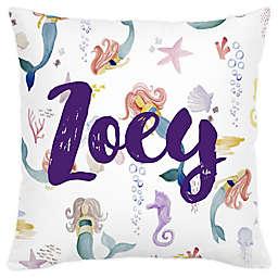 Carousel Designs® Watercolor Mermaids Square Throw Pillow