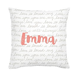Carousel Designs® Love Words Square Throw Pillow in French Grey