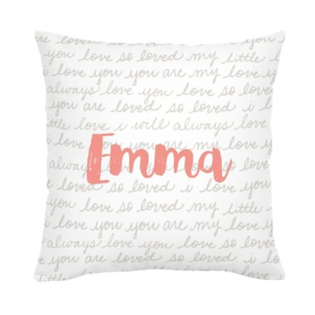 Carousel Designs Love Words Square Throw Pillow In French Grey Bed Bath Beyond