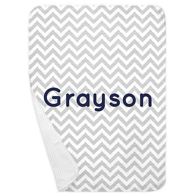 Alternate image 1 for Carousel Designs® Chevron Receiving Blanket