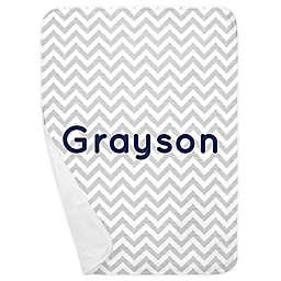Carousel Designs® Chevron Receiving Blanket in White/Grey