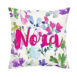 Carousel Designs® Bright Wildflower Square Throw Pillow