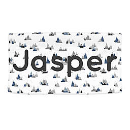 Carousel Designs® Mountains Nursery Changing Pad Cover in Blue/Grey