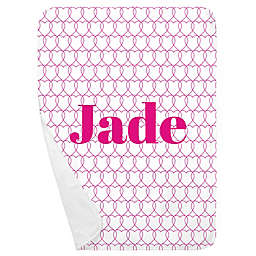 Carousel Designs® Sweetheart Receiving Blanket in Fuchsia