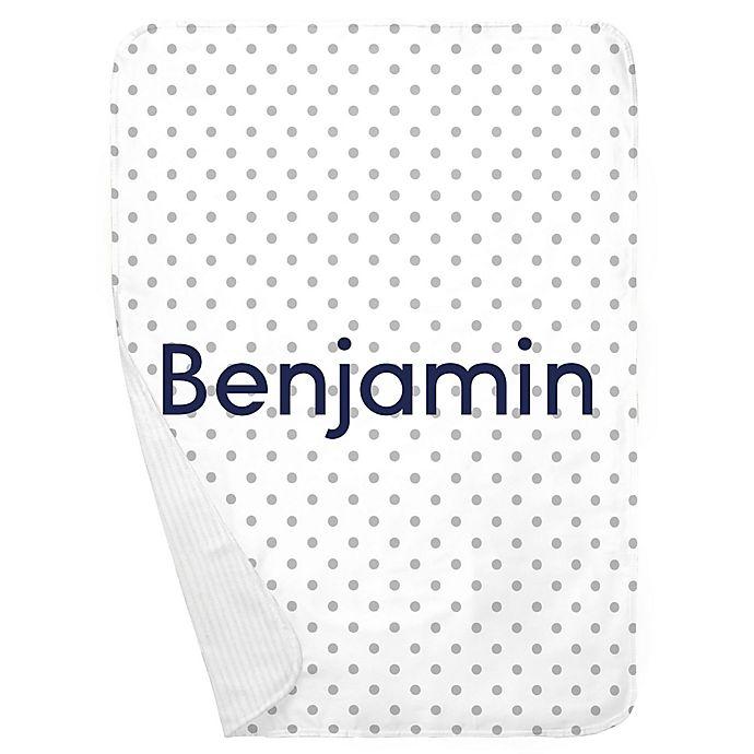 Alternate image 1 for Carousel Designs® Dot Receiving Blanket in White/Grey