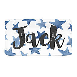 Carousel Designs® Painted Large Stars Nursery Changing Pad Cover in Blue