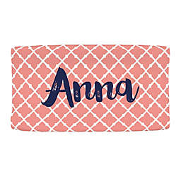 Carousel Designs® Lattice Nursery Changing Pad Cover in Light Coral