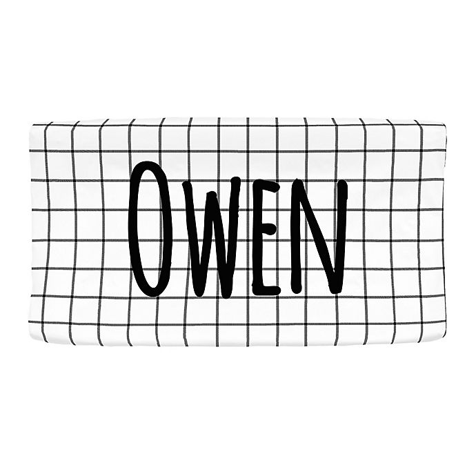 Alternate image 1 for Carousel Designs® Windowpane Nursery Changing Pad Cover in Black/White