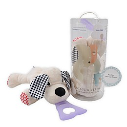 Nissi & Jireh® Dog 4-in-1 Teething Toy and Detachable Pacifier Holder