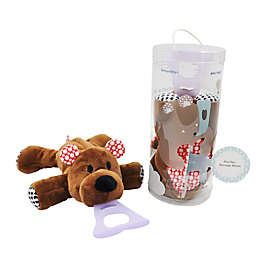 Nissi & Jireh® Bear 4-in-1 Teething Toy and Detachable Pacifier Holder