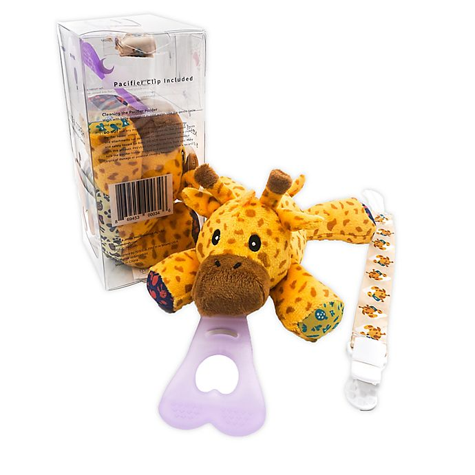 Alternate image 1 for Nissi & Jireh® Giraffe 4-in-1 Teething Toy and Detachable Pacifier Holder