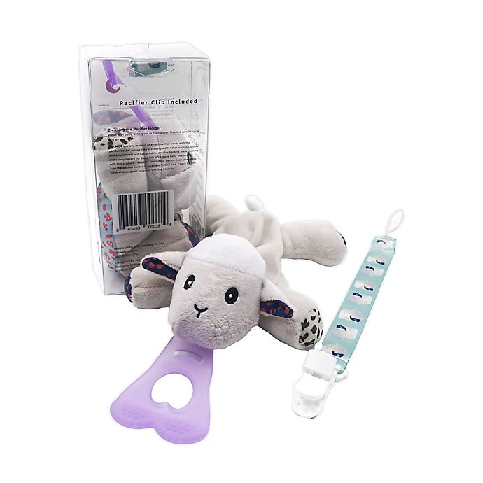 Alternate image 1 for Nissi & Jireh® Sheep 4-in-1 Teething Toy and Detachable Pacifier Holder