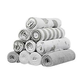 Spasilk® 10-Pack Celestial Washcloths in Grey