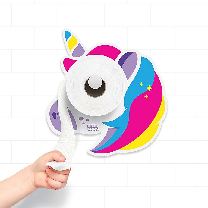 Alternate image 1 for Kookooloos Unicorn Potty Paper Holder in White