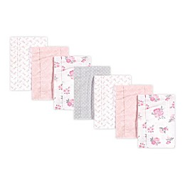 Hudson Baby® 7-Pack Floral Burp Cloth Set in Pink