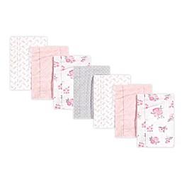 Hudson Baby® 7-Pack Floral Burp Cloth Set in Pink