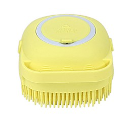 Scrub-A-Dubdub Baby Brush and Soap Dispenser in Yellow