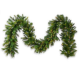 Vickerman Cashmere Pine 18-Inch Pre-Lit Garland with Dura-Lit Lights