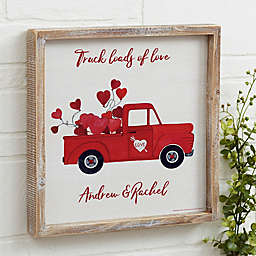 Rustic Valentine Truck Personalized Barnwood Wall Art Collection