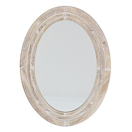 Bee & Willow™ Home 31.5-Inch x 23.25-Inch Oval Wall Mirror in White Wash