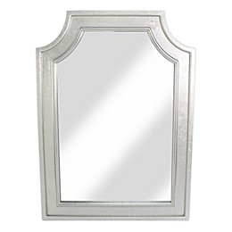 W Home 31.5-Inch x 43.5-Inch Rectangular Arched Wall Mirror in Silver