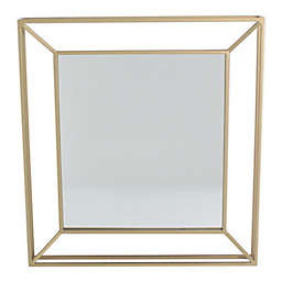 One Kings Lane Open House™ Square Metal Wall Mirror in Gold